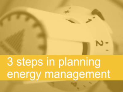 3 steps in planning energy management