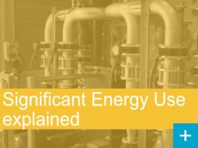 Significant Energy Use explained