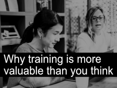 Why training is more valuable than you think