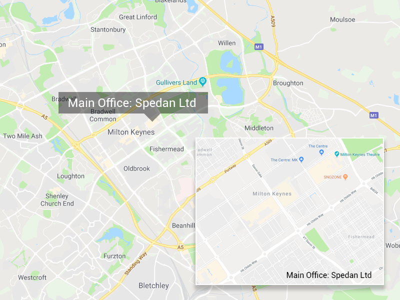 Spedan Offices Map Milton Keynes
